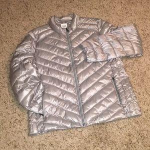 Gap Women's Lightweight Puffer Jacket - XL Silver